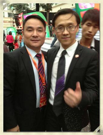 瞿总在上经济论坛峰会上会见世界华人冠军俱乐部大客户服务部经理姬剑晶